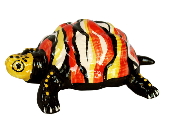 Miss Volcano Turtle - Ceramic Turtle Hand Painted In Spain