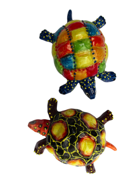 Miss Pearl Turtle - Ceramic Turtle Hand Painted In Spain