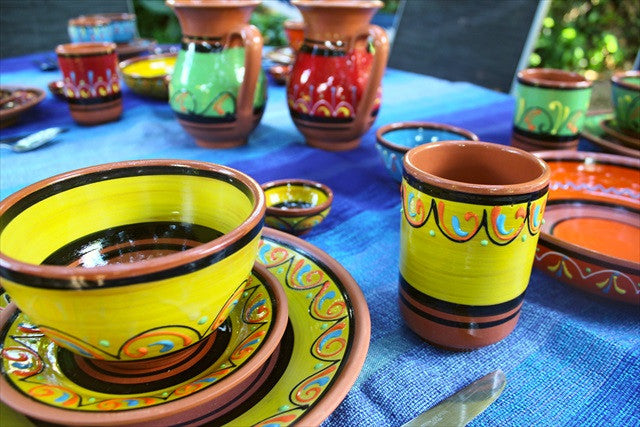 Terracotta pottery for sale.