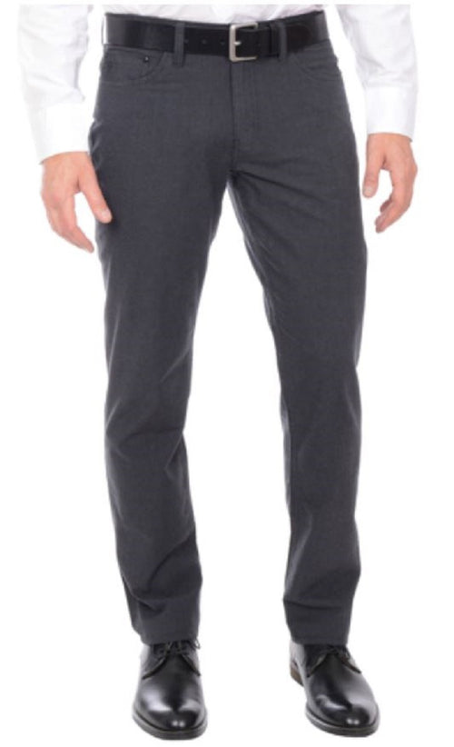 English Laundry Mens Walker Slimmer Through Leg Patterned 5 Pocket Causal Pants