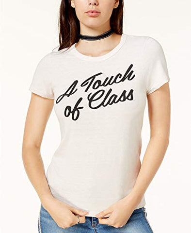 Junk Food Women's Touch of Class Cotton Graphic T-Shirt (Small)