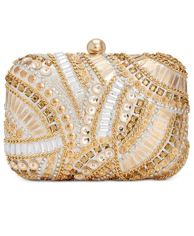 INC International Concepts Raychill Clutch Purse (Gold)