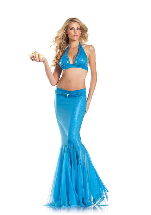 Be Wicked Costume Collection Women's 2 Piece Mermaid
