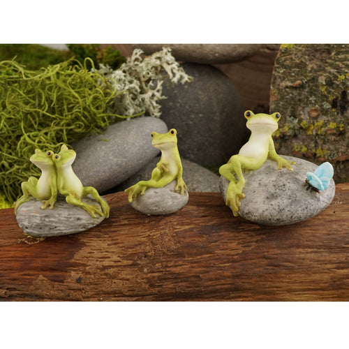 Top Collection Miniature Garden Frog Statues