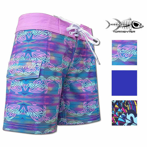 "Tormenter Womens 8 Way Stretch SPF-35 Lightweight 6"" Board Shorts"