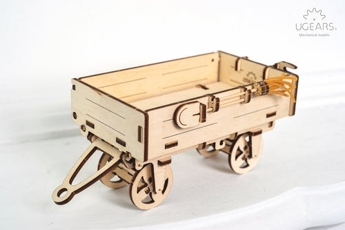 UGears Plywood Trailer Collectible Mechanical Model