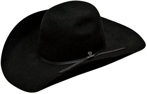 Ariat Mens Wool Punchy Crown 2-Cord Band Western Hat