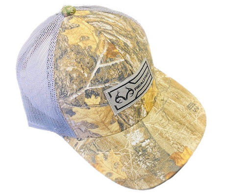 Outdoor Cap Realtree Logo Patch Mesh Distressed Adjustable Snap-back Ball Cap