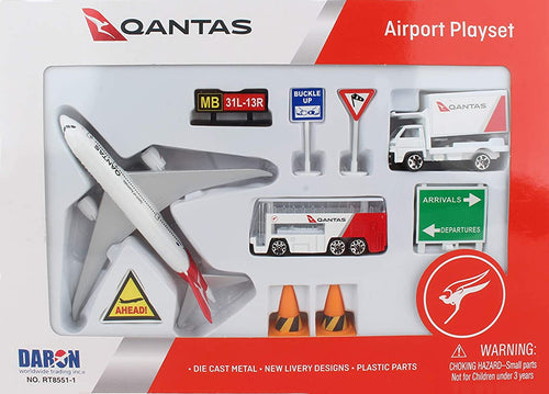 Daron Qantas Diecast Metal and Plastic Collectible Playset