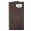 ZEP-PRO Mens Crazy Horse Leather Concho Secretary Wallets