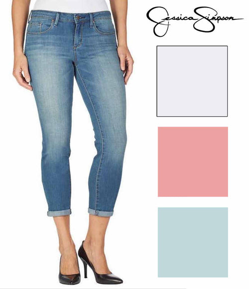 Jessica Simpson Womens Rolled Crop Skinny Jeans