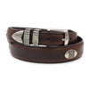 Danbury Golf Mens Club Conchos Top Grain Leather Belt
