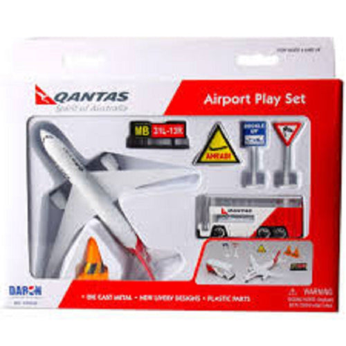 Daron Qantas Die Cast Metal and Plastic  Airport Playset