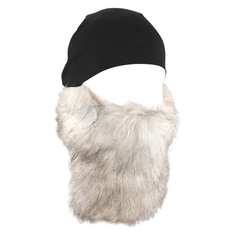 ZAN Headgear Helmet Liner Breathable Skull Cap Detachable Fur Beard One Size