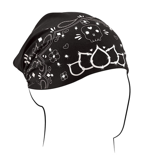 ZAN Headgear Womens Bamboo Highway Honey Headwrap Skull Paisley Design One Size