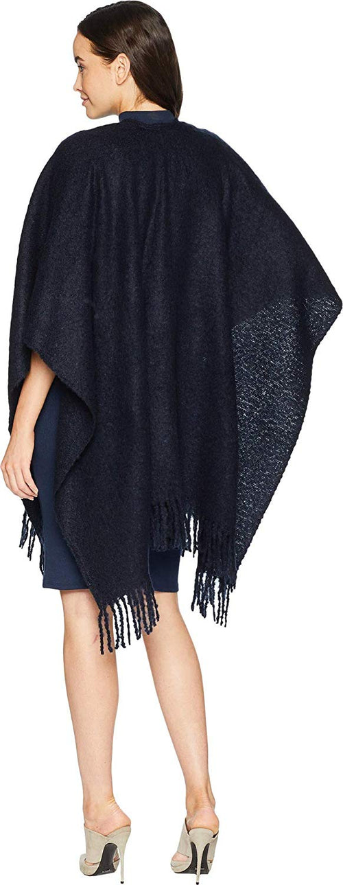 Echo Design Women's Solid Boucle Ruana Wrap