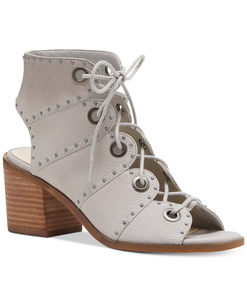Jessica Simpson Womens Ryanna Studded Lace-Up Shooties