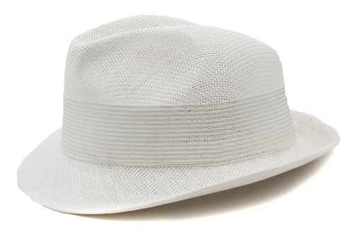 Tommy Bahama Womens Atlas Paper Braid Fedora (White, One Size)
