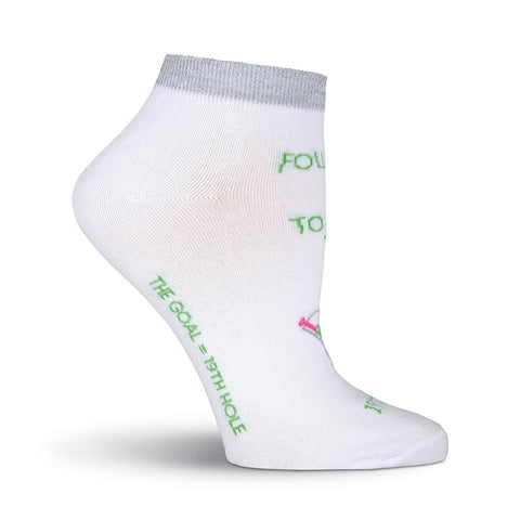K. Bell Sport Womens Follow Me No Show Socks (White, One Size)