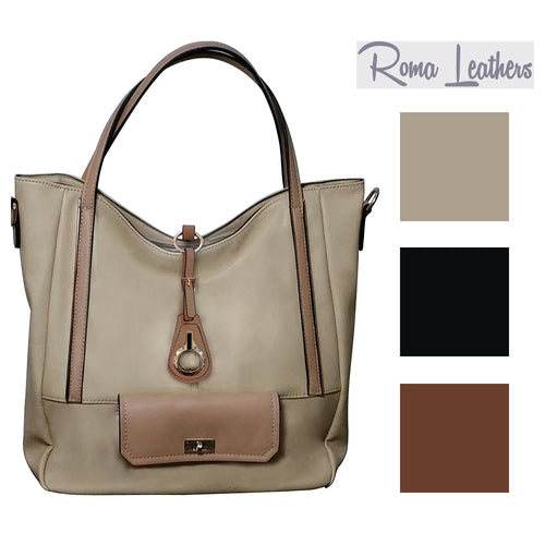 Roma Leathers Womens Genuine Leather Gun Concealment Handbag