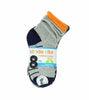 Stride Rite Boys Combed Cotton Quarters Socks-8 Pack