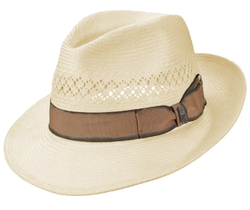 Brooklyn Hat Co. Diego Shantung Fedora Hat (Ivory, One Size)