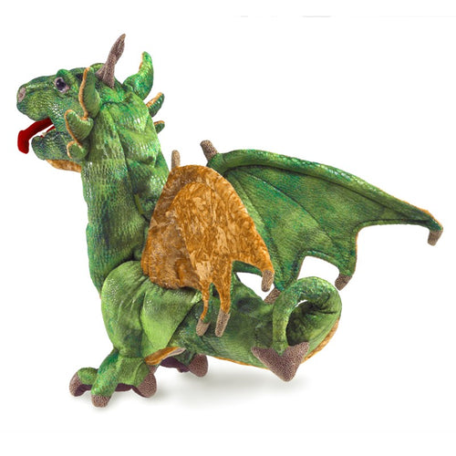 Folkmanis High Quality Mystical Creature Animal Puppets, Wyvern Dragon