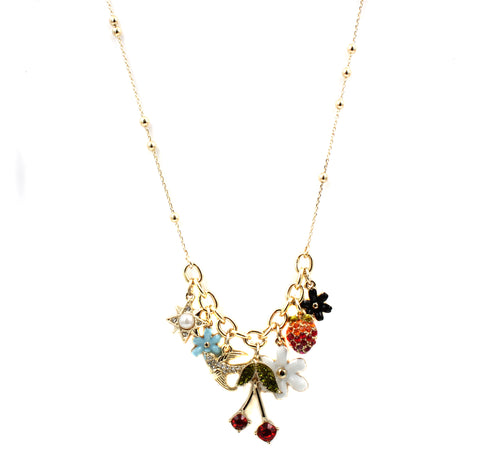 BCBGeneration Mixed Multi Charm Frontal Necklace