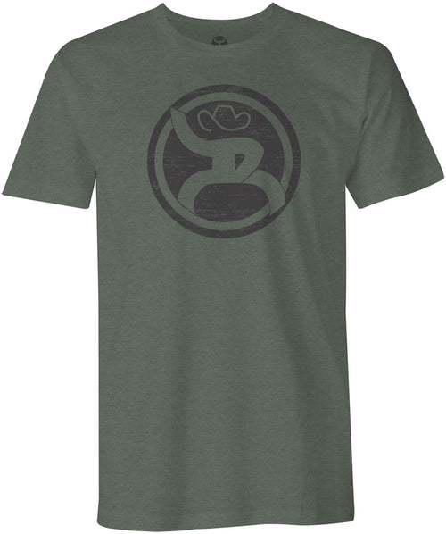 Hooey Mens Roughy Logo Cotton Polyester Short Sleeve Tee Shirt (Olive, Medium)