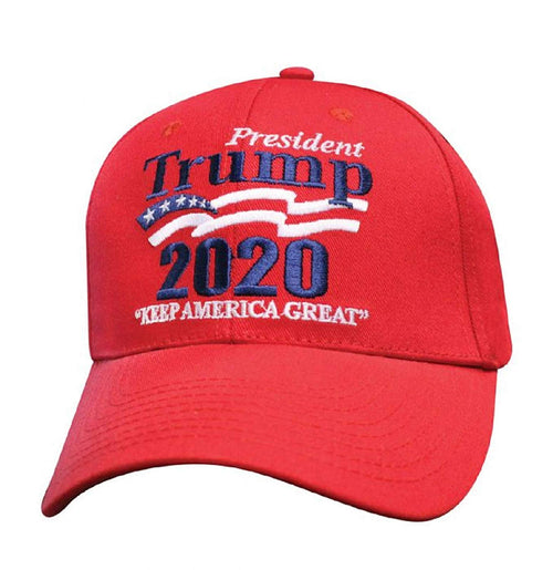 President Trump 2020 Keep America Great Wave Embroidered Baseball Cap
