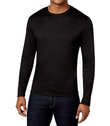 Alfani Mens Soft Touch Stretch Long-Sleeve T-Shirt (Black, XX-Large)