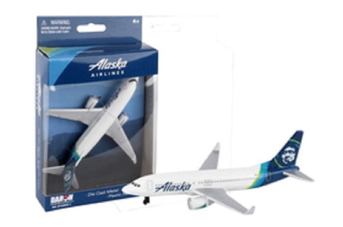 Daron Alaska Airlines Die cast Metal Collectible Single Plane Vehicle