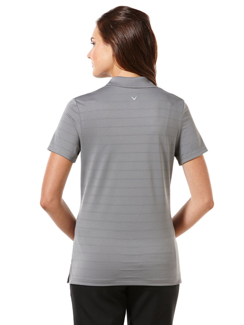 Callaway Womens Short Sleeve Opti-Vent Open Mesh Polo (Quiet Shade, Medium)