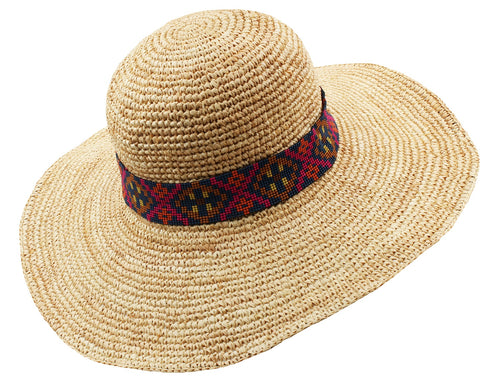 Flora Bella Womens Lucia Shape-able Sun Hat (Natural/Navy, One Size)