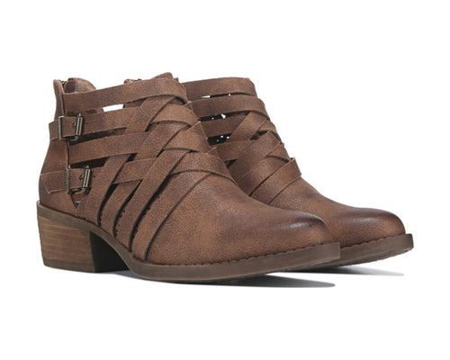 Not Rated Womens Gael Weave Buckle Ankle Bootie