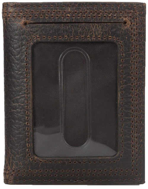 Ariat Performance Work Front Pocket Bifold Money Clip Wallet (Brown Rowdy)