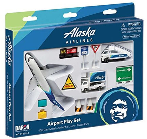 Daron Alaska Airlines Airport Play Set New Livery
