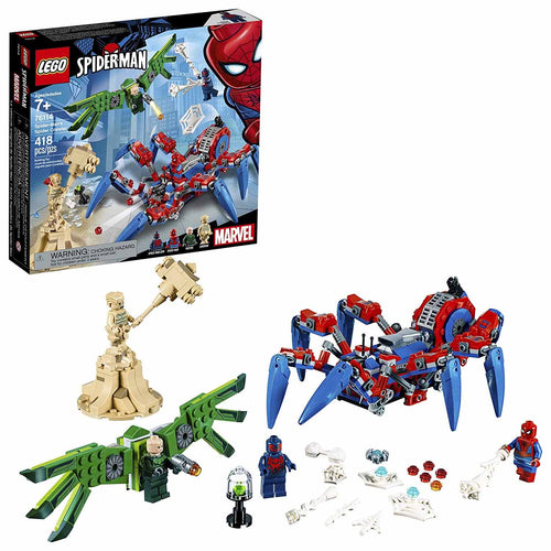 LEGO Marvel Spider-Man: Spider-Man's Spider Crawler Building Kit (76114, 418 Pieces)