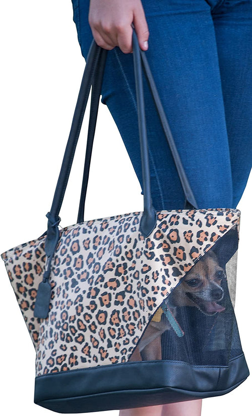 Pet Gear R&R Zippered Fleece Lined Tote Bag Pet Carrier (Jaguar)
