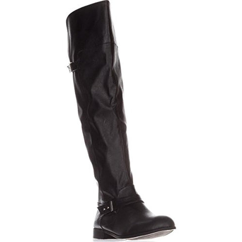 Bar III Womens B35 Daphne Over The Knee Riding Boots (Black, 7.5)
