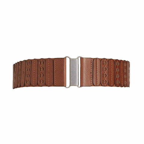 Style & Co. Womens Faux Leather Panel Stretch Belt