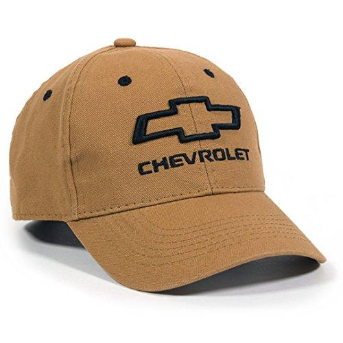 Outdoor Cap Unisex Chevrolet Structured Canvas Adjustable Baseball Hat, (Brown, One size)