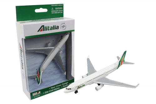 Daron Alitalia Single Die Cast Metal and Plastic Collectible Plane