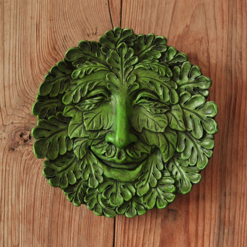 Top Collection Large Hanging Oak Greenman Garden Plaque