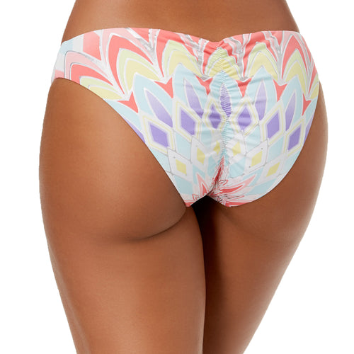 Bar III Womens Starburst Printed Cheeky Hipster Bikini Bottoms (Multi, X-Large)
