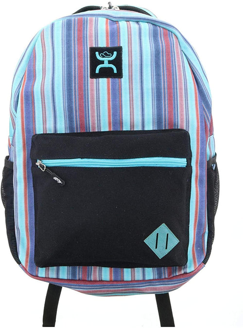 Hooey Unisex Recess Backpack (Black Serape Stripe Multi Print, 20 Liters)