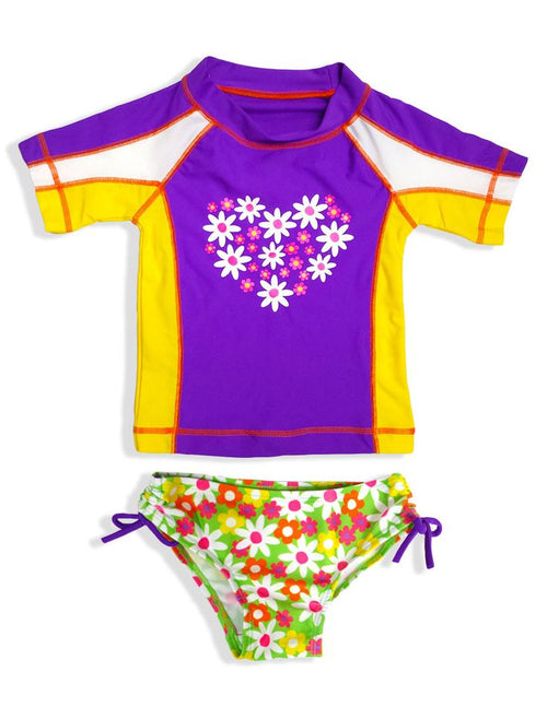 Jump N' Splash Big Girls 2-Piece Rashguard Swim Set