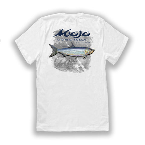 Mojo Mens Tarpon Performance Short Sleeve Quick Dry Fishing T-Shirt with Pocket