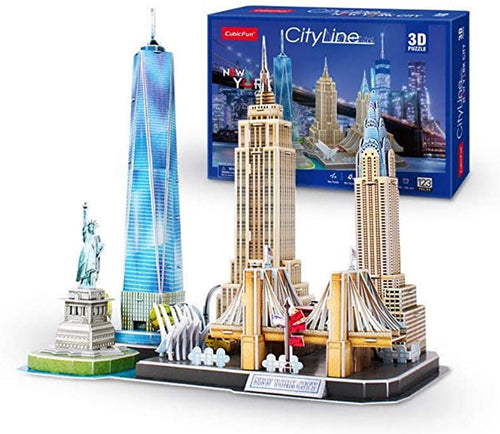 Daron Cityline Series 3D Puzzle New York City, 123Piece