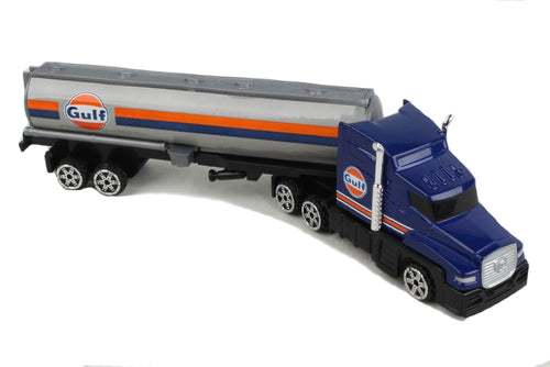 Daron Gulf Oil Tanker Truck Big Rig Collectible Plastic Toy